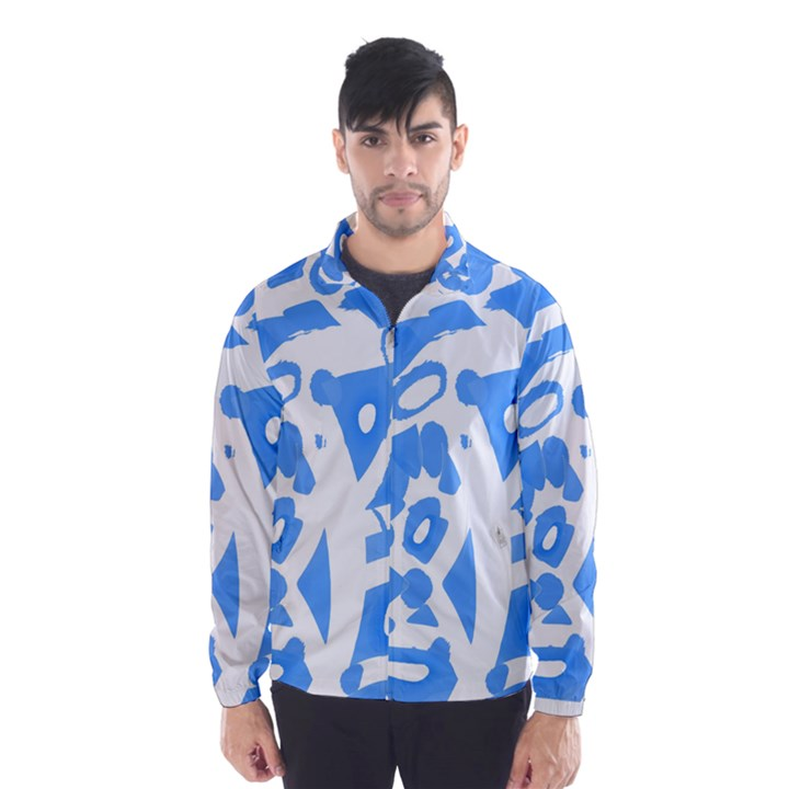 Blue summer design Wind Breaker (Men)