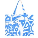 Blue summer design Large Tote Bag View1