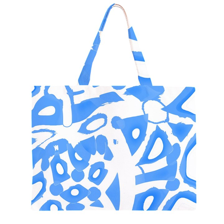 Blue summer design Large Tote Bag