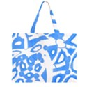 Blue summer design Large Tote Bag View2
