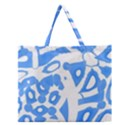 Blue summer design Zipper Large Tote Bag View1