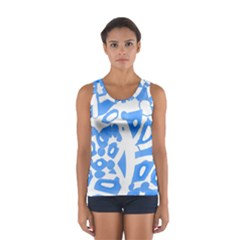 Blue summer design Women s Sport Tank Top