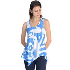 Blue Summer Design Sleeveless Tunic