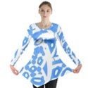 Blue summer design Long Sleeve Tunic  View1