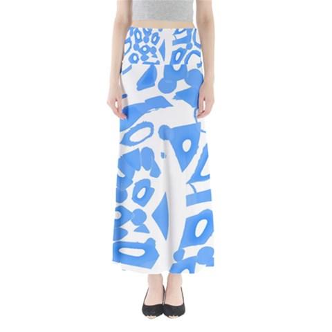 Blue summer design Maxi Skirts