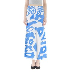 Blue summer design Maxi Skirts