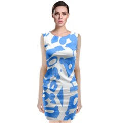 Blue summer design Classic Sleeveless Midi Dress