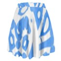 Blue summer design High Waist Skirt View2