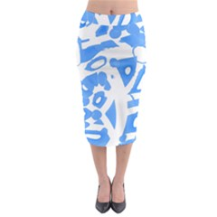 Blue summer design Midi Pencil Skirt