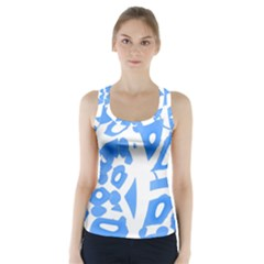 Blue summer design Racer Back Sports Top