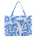 Blue summer design Medium Zipper Tote Bag View1