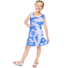 Blue summer design Kids  Tunic Dress