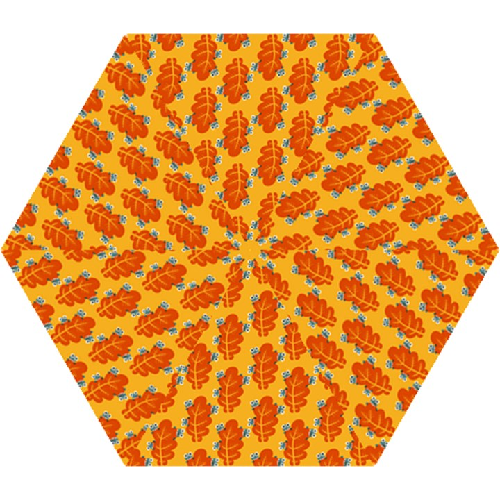Bugs Eat Autumn Leaf Pattern Mini Folding Umbrellas