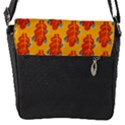 Bugs Eat Autumn Leaf Pattern Flap Messenger Bag (S) View1