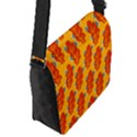 Bugs Eat Autumn Leaf Pattern Flap Messenger Bag (S) View2