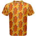 Bugs Eat Autumn Leaf Pattern Men s Cotton Tee View1