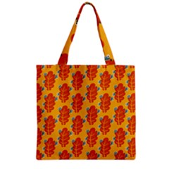 Bugs Eat Autumn Leaf Pattern Grocery Tote Bag