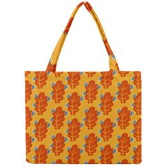 Bugs Eat Autumn Leaf Pattern Mini Tote Bag
