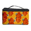 Bugs Eat Autumn Leaf Pattern Cosmetic Storage Case View1