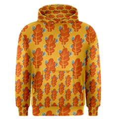 Bugs Eat Autumn Leaf Pattern Men s Pullover Hoodie