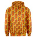 Bugs Eat Autumn Leaf Pattern Men s Zipper Hoodie View1