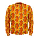 Bugs Eat Autumn Leaf Pattern Men s Sweatshirt View1