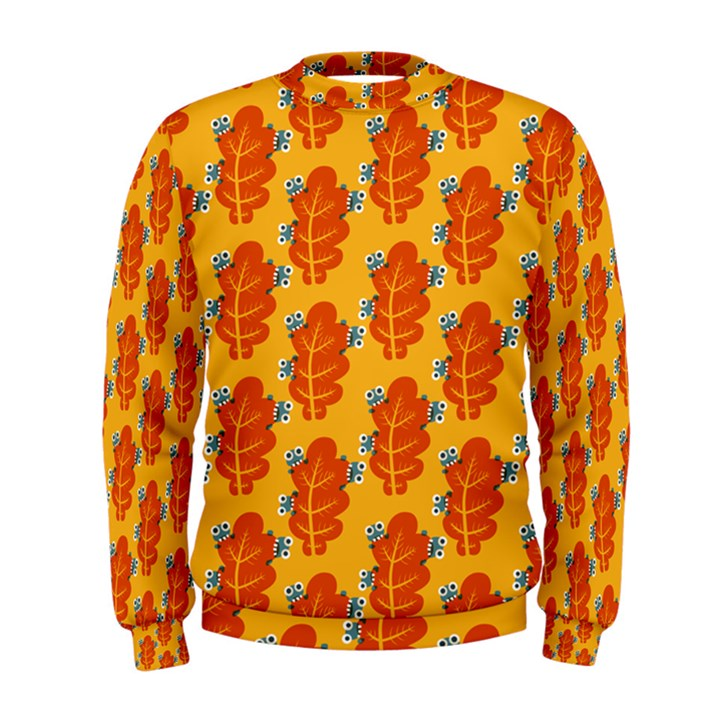 Bugs Eat Autumn Leaf Pattern Men s Sweatshirt