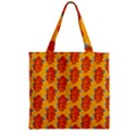 Bugs Eat Autumn Leaf Pattern Zipper Grocery Tote Bag View1