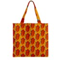 Bugs Eat Autumn Leaf Pattern Zipper Grocery Tote Bag View2