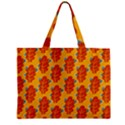 Bugs Eat Autumn Leaf Pattern Zipper Mini Tote Bag View2