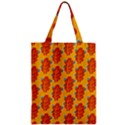 Bugs Eat Autumn Leaf Pattern Zipper Classic Tote Bag View1