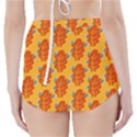 Bugs Eat Autumn Leaf Pattern High-Waisted Bikini Bottoms View2