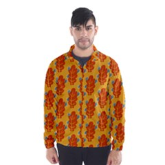 Bugs Eat Autumn Leaf Pattern Wind Breaker (men)