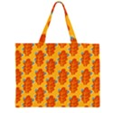 Bugs Eat Autumn Leaf Pattern Large Tote Bag View1