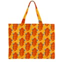 Bugs Eat Autumn Leaf Pattern Large Tote Bag View2