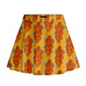 Bugs Eat Autumn Leaf Pattern Mini Flare Skirt View1