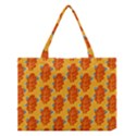 Bugs Eat Autumn Leaf Pattern Medium Tote Bag View1