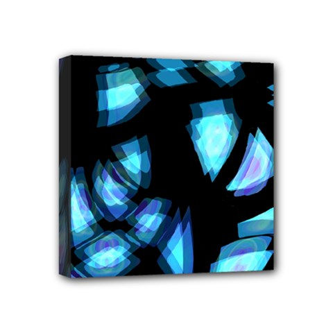 Blue light Mini Canvas 4  x 4