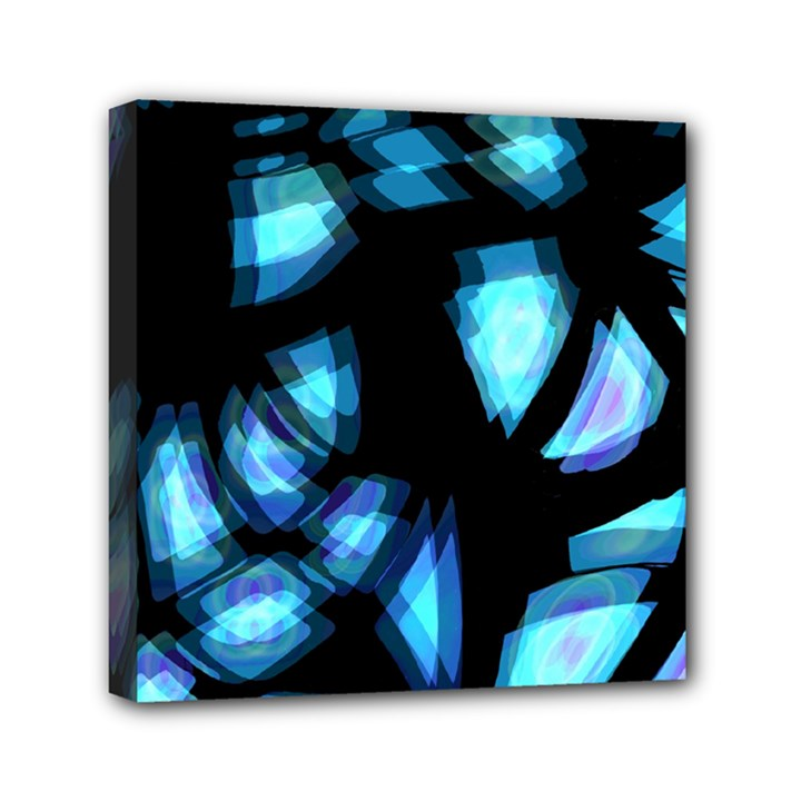 Blue light Mini Canvas 6  x 6