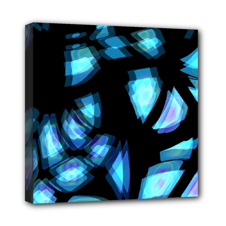 Blue light Mini Canvas 8  x 8