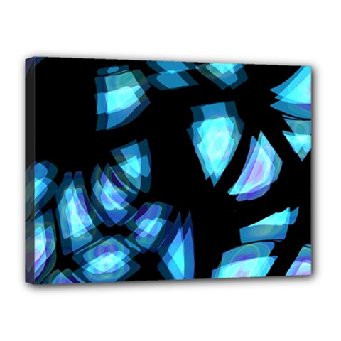 Blue light Canvas 16  x 12