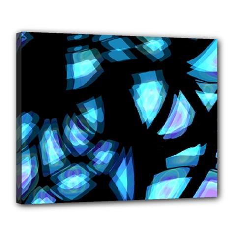 Blue light Canvas 20  x 16