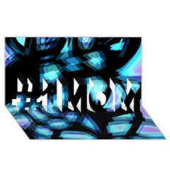 Blue light #1 MOM 3D Greeting Cards (8x4)
