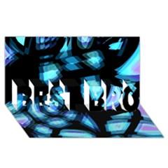 Blue Light Best Bro 3d Greeting Card (8x4)