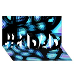 Blue light #1 DAD 3D Greeting Card (8x4)