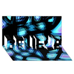Blue light BELIEVE 3D Greeting Card (8x4)