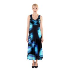 Blue light Sleeveless Maxi Dress
