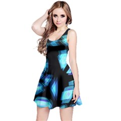 Blue light Reversible Sleeveless Dress