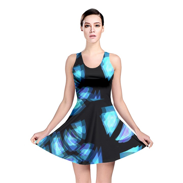 Blue light Reversible Skater Dress