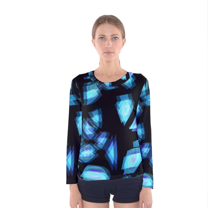 Blue light Women s Long Sleeve Tee